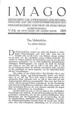 """an analysis of sigmund freuds concept of the uncanny Research paper on """"applying freud's 'the uncanny' psychoanalytical theory to henry james 'the turn of the screw'"""" introduction uncanny (das unheimliche) is an adjective noun in the german language, used by sigmund freud as a conceptual term to express in the field of aesthetic feeling a particular attitude of most generic sense of fear."""
